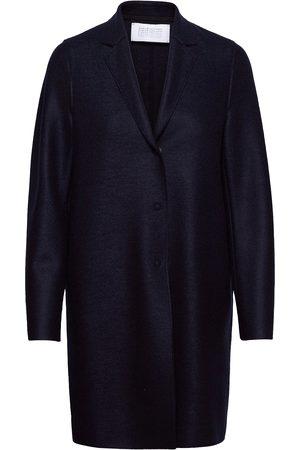 Harris Wharf London Dame Ullkåper - Women Cocoon Coat Light Pressed Wool Ullfrakk Frakk