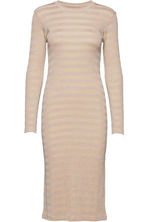 Mads Norgaard Dame Bodycon kjoler - 2x2 Tonal Stripe Duba Dresses Bodycon Dresses