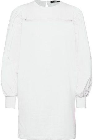 Karl Lagerfeld Dame Hverdagskjoler - Fabric Mix Sweat Dress Kort Kjole