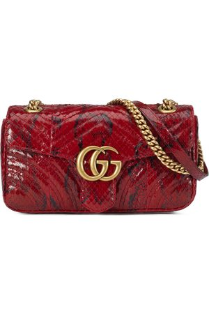 Gucci GG Marmont anaconda small shoulder bag