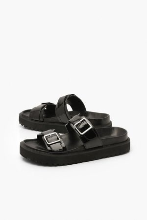 Boohoo Double Strap Chunky Footbed Sliders