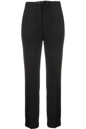 Prada Dame Chinos - Slim-fit buckled trousers