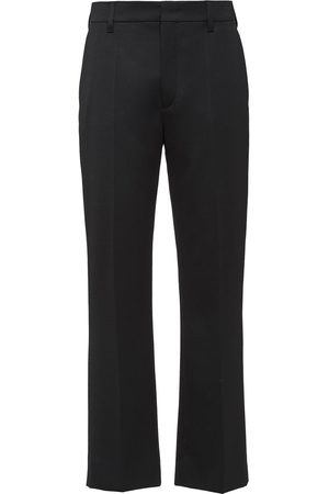Prada Dame Chinos - Sateen tailored cropped trousers