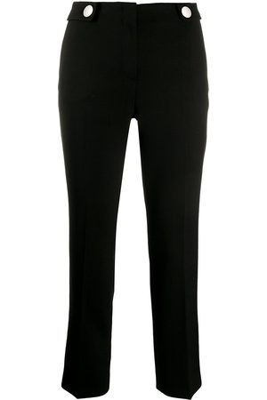 Prada Dame Smale bukser - Button details slim-fit trousers