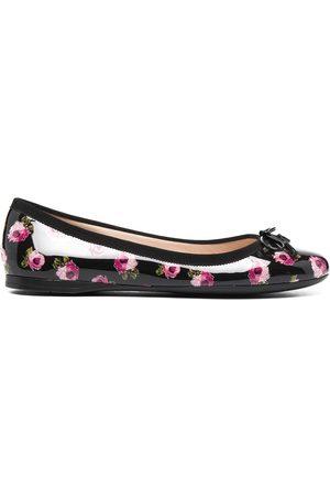 Prada Dame Ballerinasko - Floral-print ballerina shoes