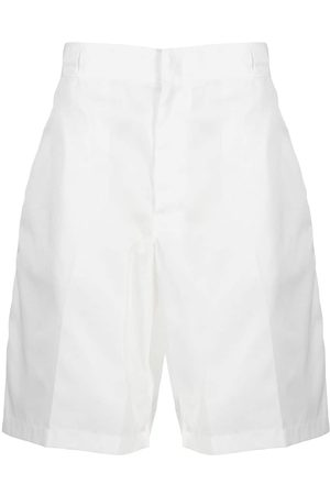 Prada Herre Bermudashorts - Triangle-logo high-waist bermuda shorts