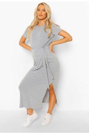 Boohoo Dame Maxikjoler - Maternity Tie Waist Midaxi Dress