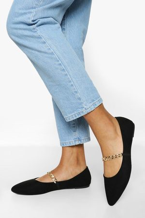 Boohoo Dame Loafers - Chain Detail Pointed Flats