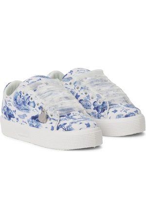 MONNALISA Jente Sneakers - X Disney® printed canvas sneakers