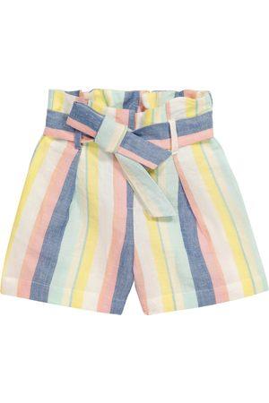 BONPOINT Jente Shorts - Nath striped linen and cotton shorts