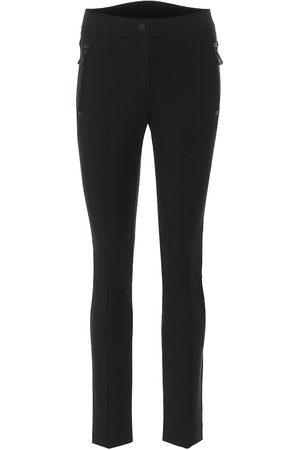 Moncler High-rise slim fit pants