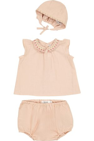 BONPOINT Sett - Baby cotton top, bloomers and hat set