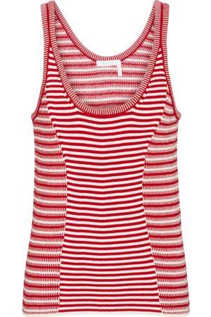 Chloé Striped knit cotton tank top