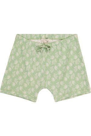 Caramel Jente Shorts - Piranha floral cotton shorts