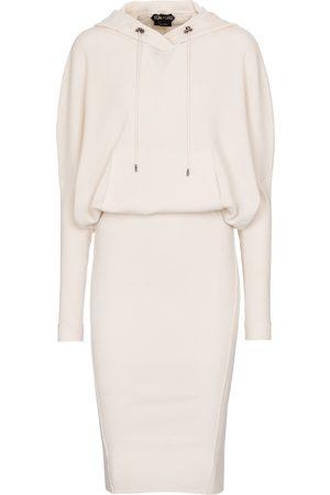 Tom Ford Dame Midikjoler - Cashmere-blend hoodie dress