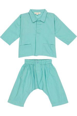 Caramel Baby Manta Ray cotton shirt and pants set