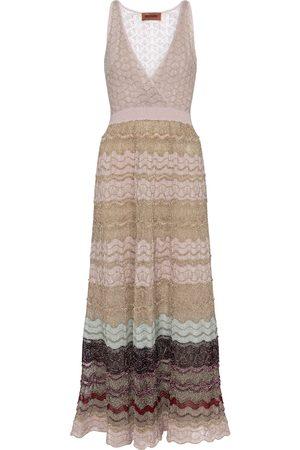 Missoni Striped stretch-silk midi dress