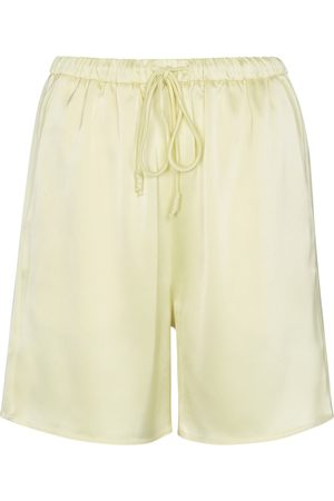 Nanushka Emily drawstring satin shorts