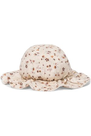 Caramel Jente Hatter - Marlin floral sun hat