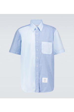 Thom Browne Herre Kortermede - Fun-Mix short-sleeved checked shirt