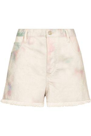 Isabel Marant Dame Shorts - Lesiabb tie-dye denim shorts