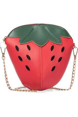 MONNALISA Strawberry faux leather shoulder bag
