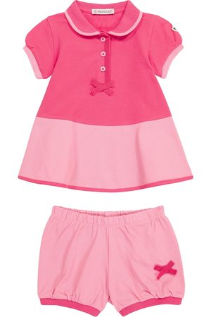 Moncler Sett - Baby stretch-cotton dress and bloomers set