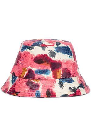 Isabel Marant Haley floral leather bucket hat