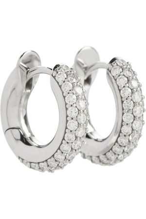 SPINELLI KILCOLLIN Macro Hoop 18kt gold earrings with diamonds