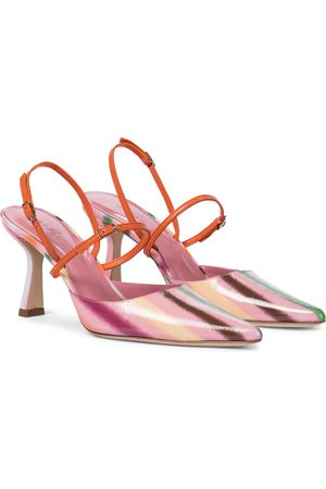 By Far Dame Pumps - Striped leather pumps