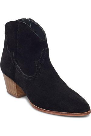 ANGULUS Dame Skoletter - Booties - Block Heel - With Elas Shoes Boots Ankle Boots Ankle Boot - Heel