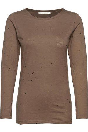 Rabens Saloner Philipa T-shirts & Tops Long-sleeved Brun Rabens Sal R