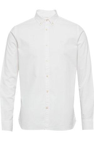 Knowledge Cotton Apparal Herre Langermede - Elder Ls Small Owl Oxford Shirt - G Skjorte Uformell Blå