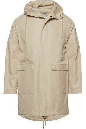 Knowledge Cotton Apparal Ocean Long Hood Jacket Tynn Jakke Beige