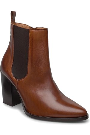 Bianco Biajudia Leather Boot Shoes Boots Ankle Boots Ankle Boots With Heel