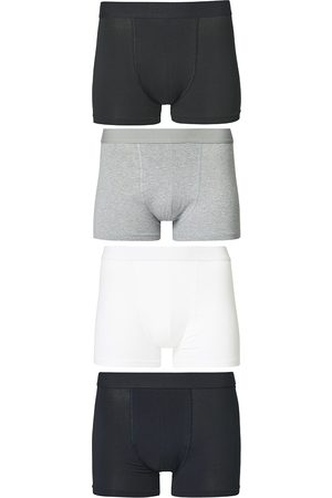 Bread & Boxers 4-Pack Boxer Brief White/Black/Grey/Navy