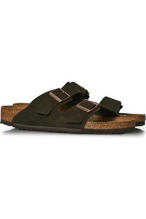 Birkenstock Herre Sandaler - Arizona Soft Footbed Mocca Suede