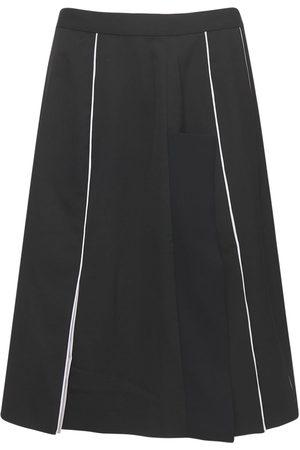 Burberry Mulberry Silk Pencil Skirt