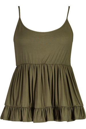 Boohoo Plus Strappy Smock Tiered Cami
