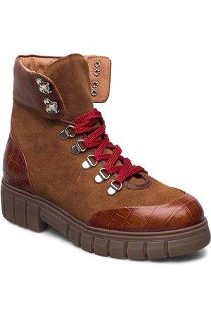Shoe The Bear Dame Skoletter - Stb-Rebel Hiker Croc Shoes Boots Ankle Boots Ankle Boot - Flat