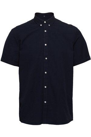 Les Deux Lyon Seersucker Ss Shirt Kortermet Skjorte
