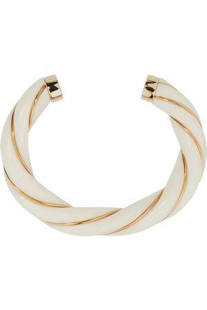 Aurélie Bidermann Dame Armbånd - Diana resin and gold plated twisted bangle bracelet