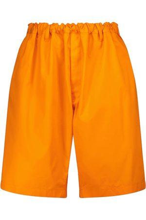 Balenciaga Mid-rise cotton twill wide-leg shorts