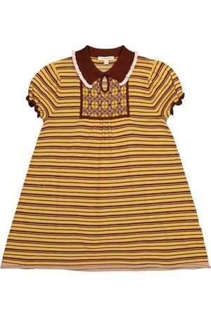 Caramel Narwhale striped merino wool dress