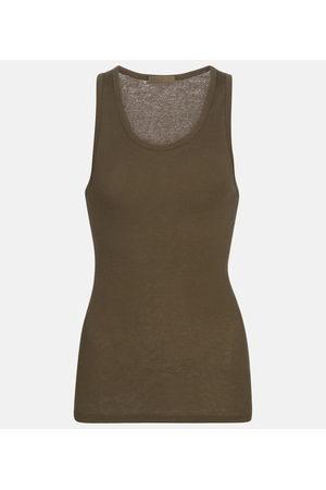 WARDROBE.NYC Ribbed-knit cotton tank top