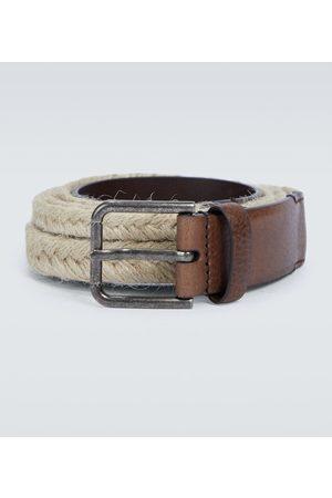 Dolce & Gabbana Jute and leather belt