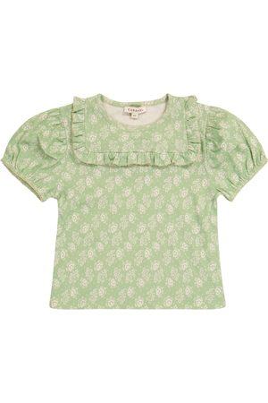 Caramel Lionfish floral cotton T-shirt