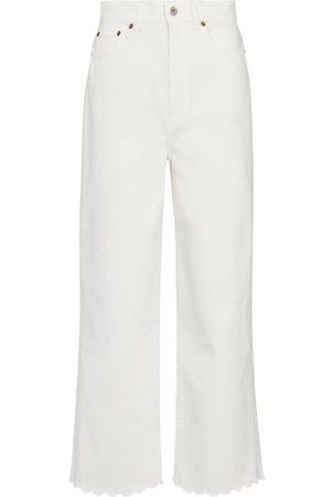 Miu Miu High-rise wide-leg cotton jeans