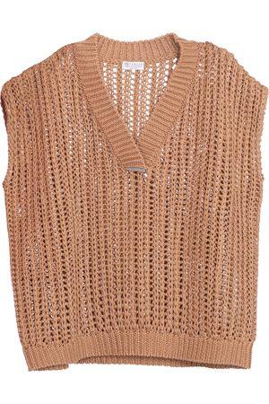 Brunello Cucinelli Embellished cotton sweater vest