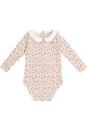 Caramel Limpet floral cotton bodysuit
